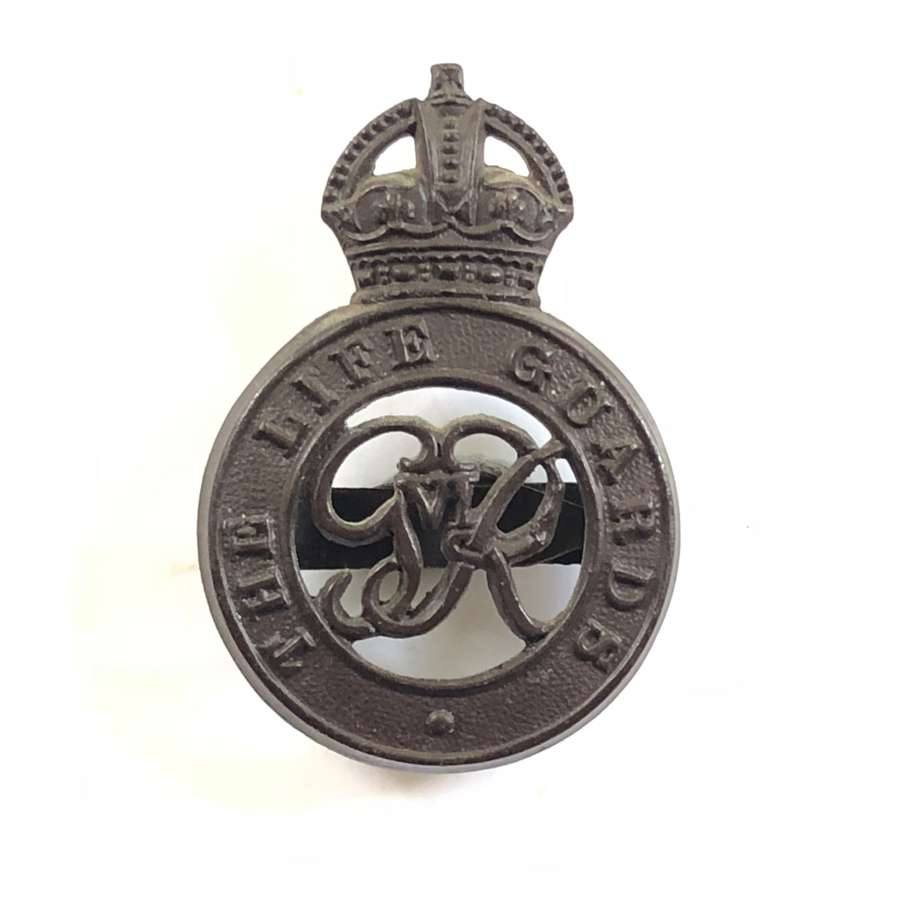 WW2 George VI Life Guards Officer's OSD Cap Badge.