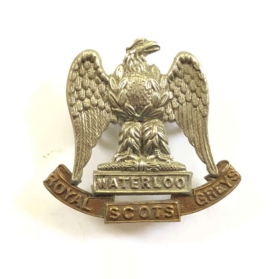 WW1/WW2 Pattern Royal Scots Greys Cap Badge