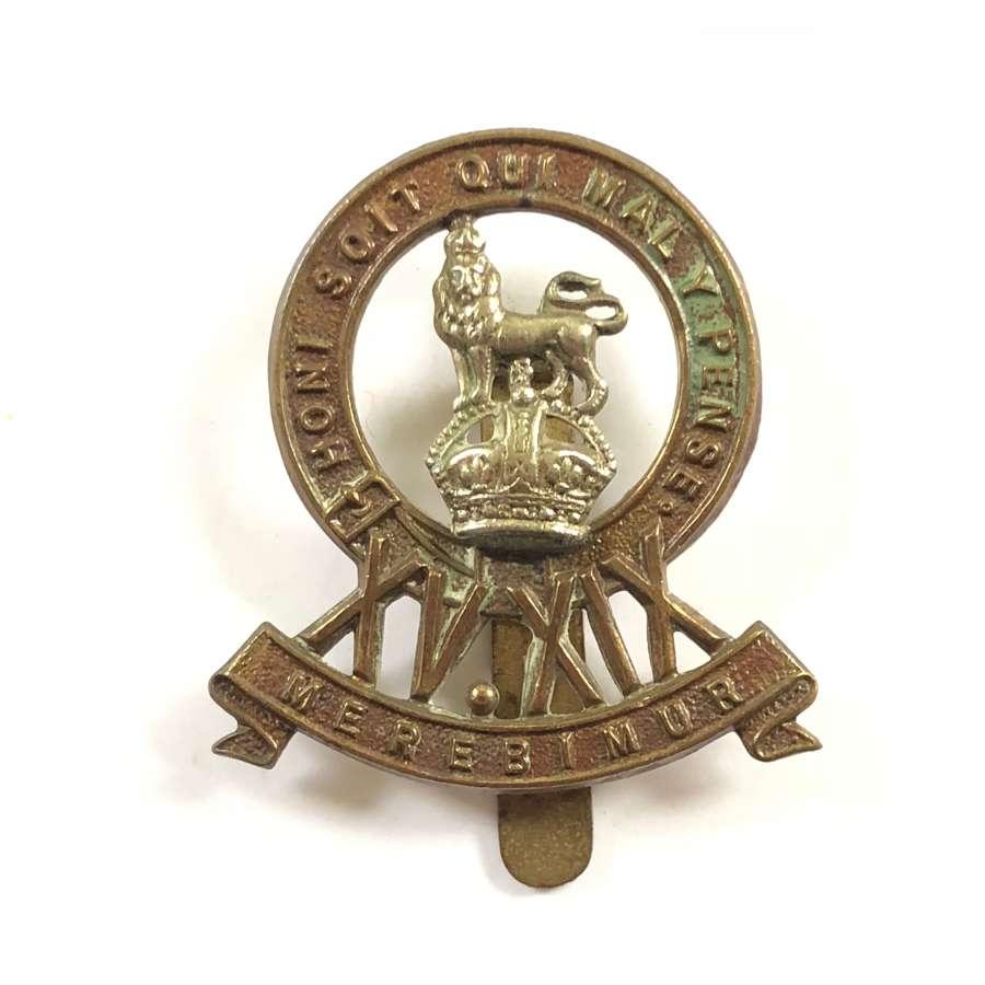 WW2 Pattern 15th/ 19th Hussars Cap Badge