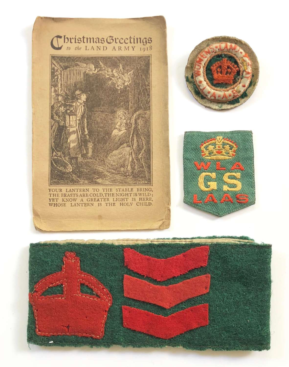 WW1 Women's Land Army Attributed Badges etc.
