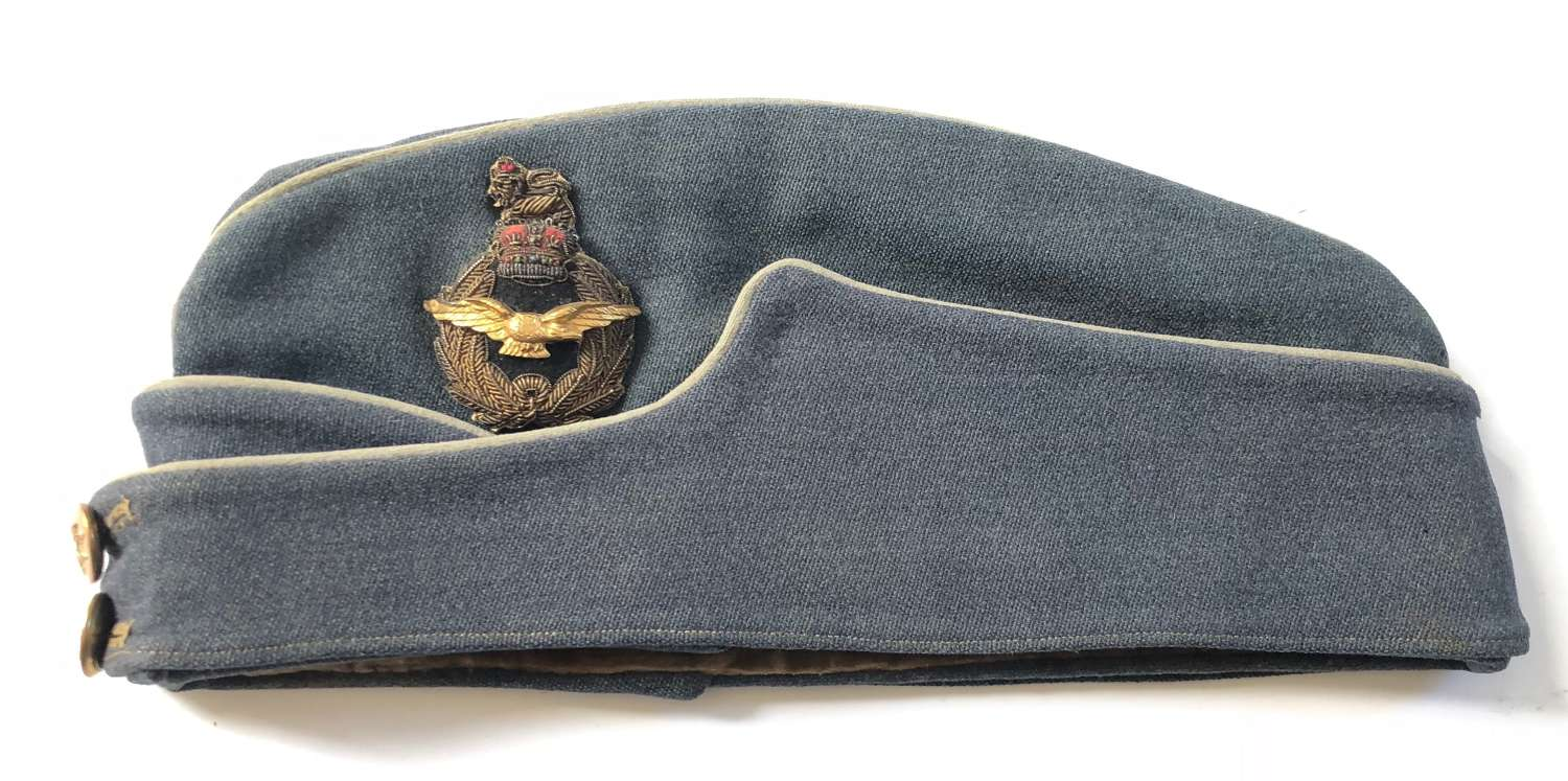 RAF Cold War Period Air Officer's Side Cap by Gieves Ltd London.