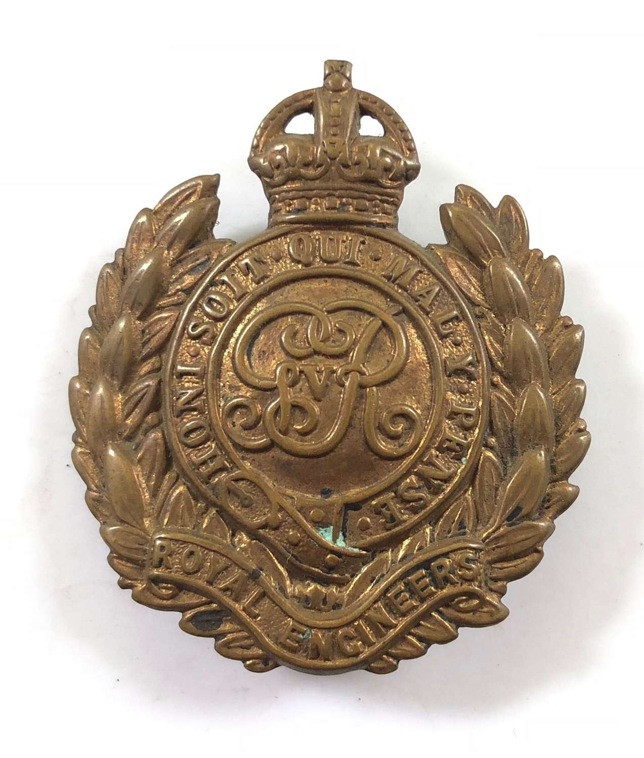 WW1 Royal Engineers Economy Cap Badges.