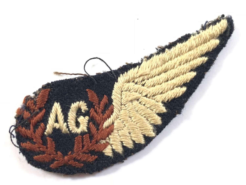 WW2 RAF Unusual Air Gunner's Brevet Badge.
