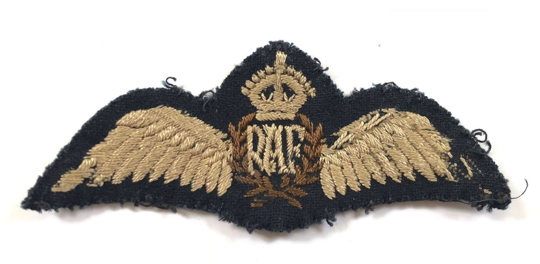 WW2 RAF Pilots Wings, with Press Studs