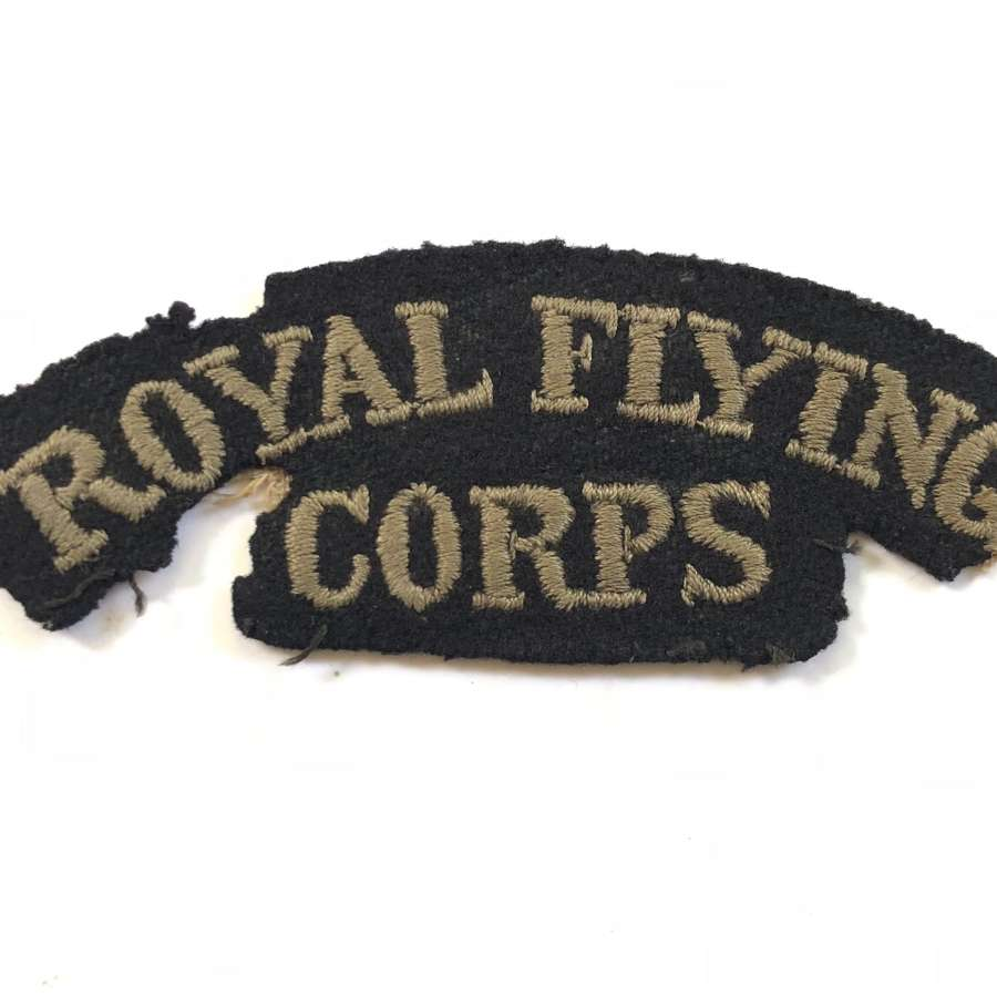 WW1 Royal Flying Corps RFC Cloth Shoulder Title.