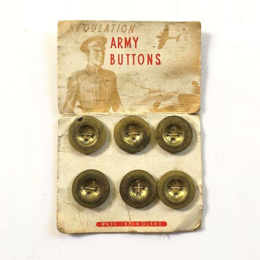 WW2 Original Soldier's Comfort Army Brass Buttons.