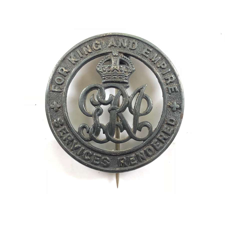 WW1 Army Service Corps Silver War Badge.