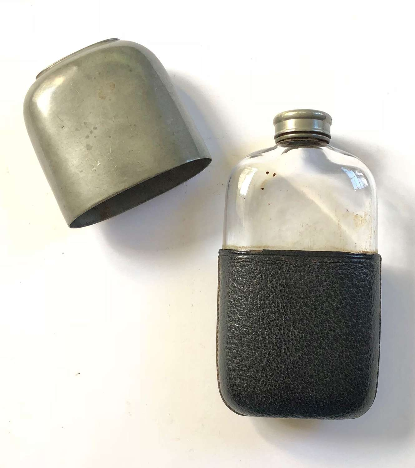 Victorian / WW1 Officer's Campaign Spirit Flask & Cup.