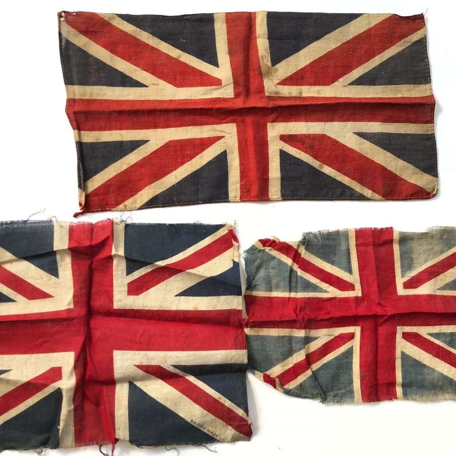 WW1 Period Cotton Union Jack Patriotic Flags.