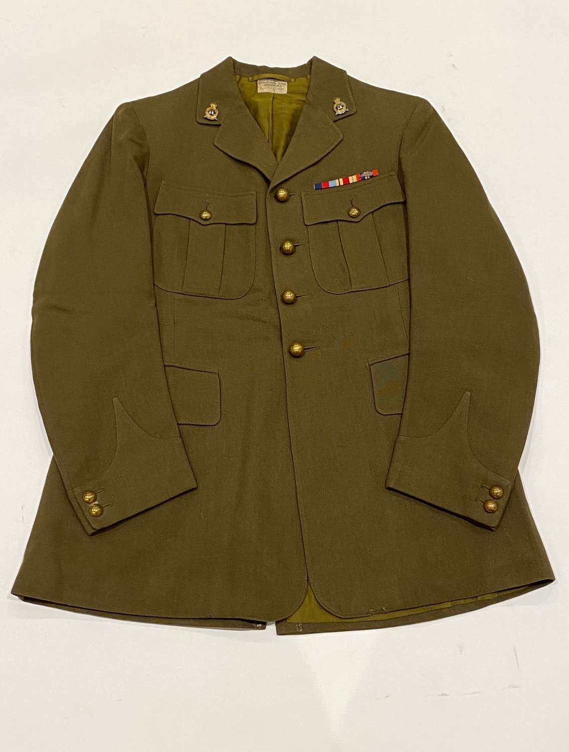 WW2 4th Royal Hussars Colditz Castle POW Officer's Tunic.