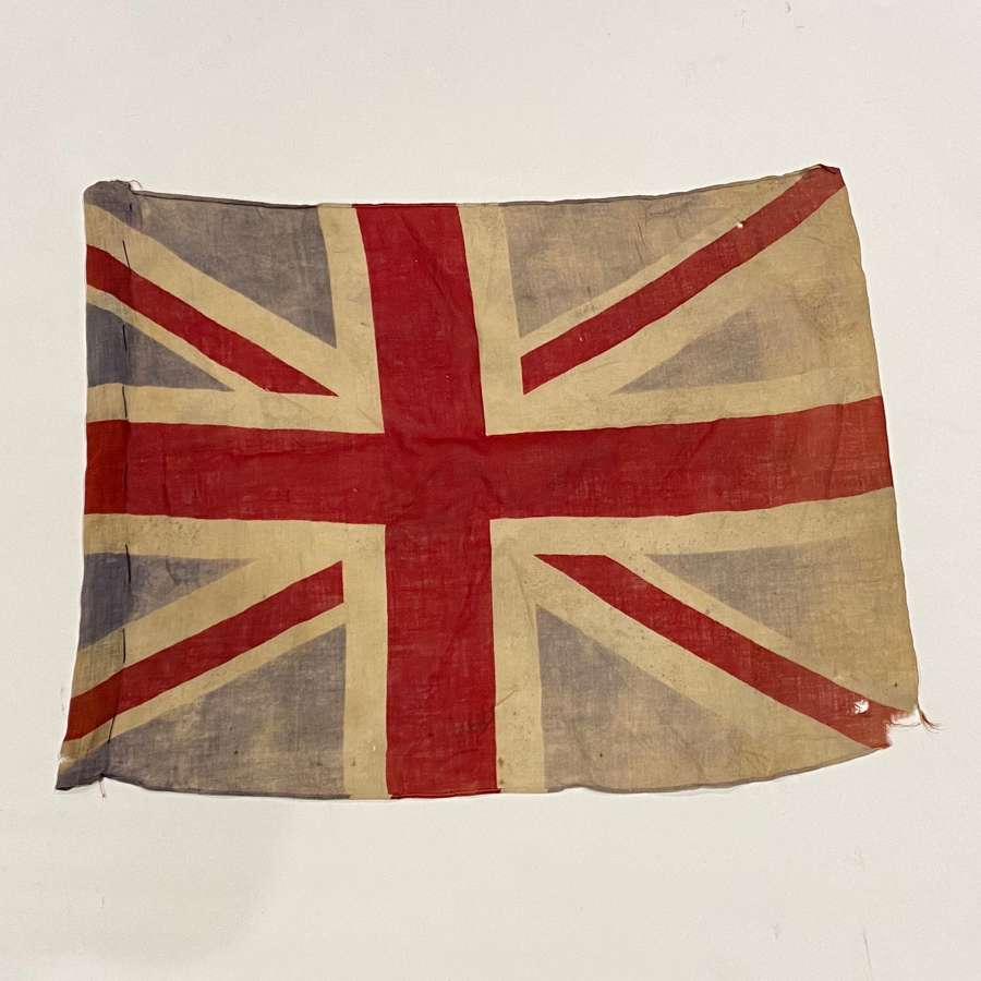 WW1 / WW2 Period Cotton Union Jack Patriotic Flag.