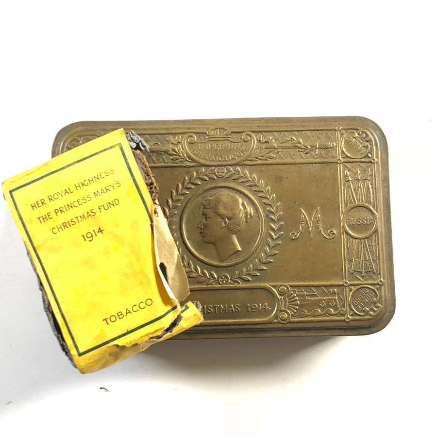 WW1 1914 Princess Mary Gift Tin & Tobacco.