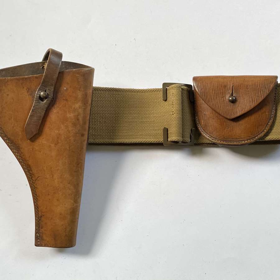 WW1 1903 Pattern Pistol Holster, Pouch & Web Belt.
