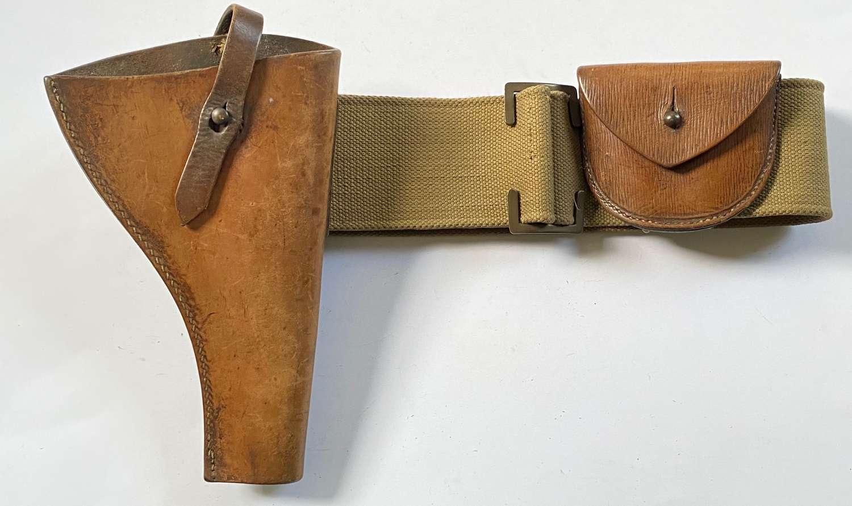 WW1 1903 Pattern Pistol Holster, Pouch & Web Belt.