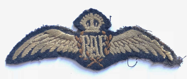 WW1 RAF Pilot Wings, Circa 1918.