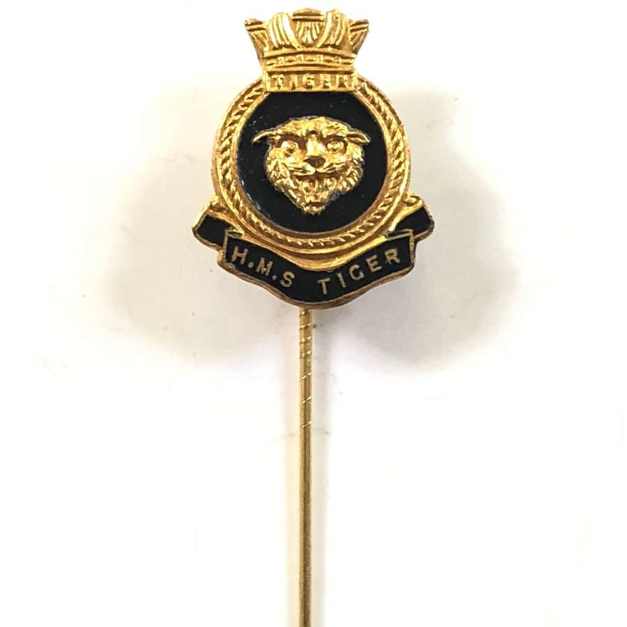 Cold War Period HMS Tiger Gilt & Enamel Stick Pin