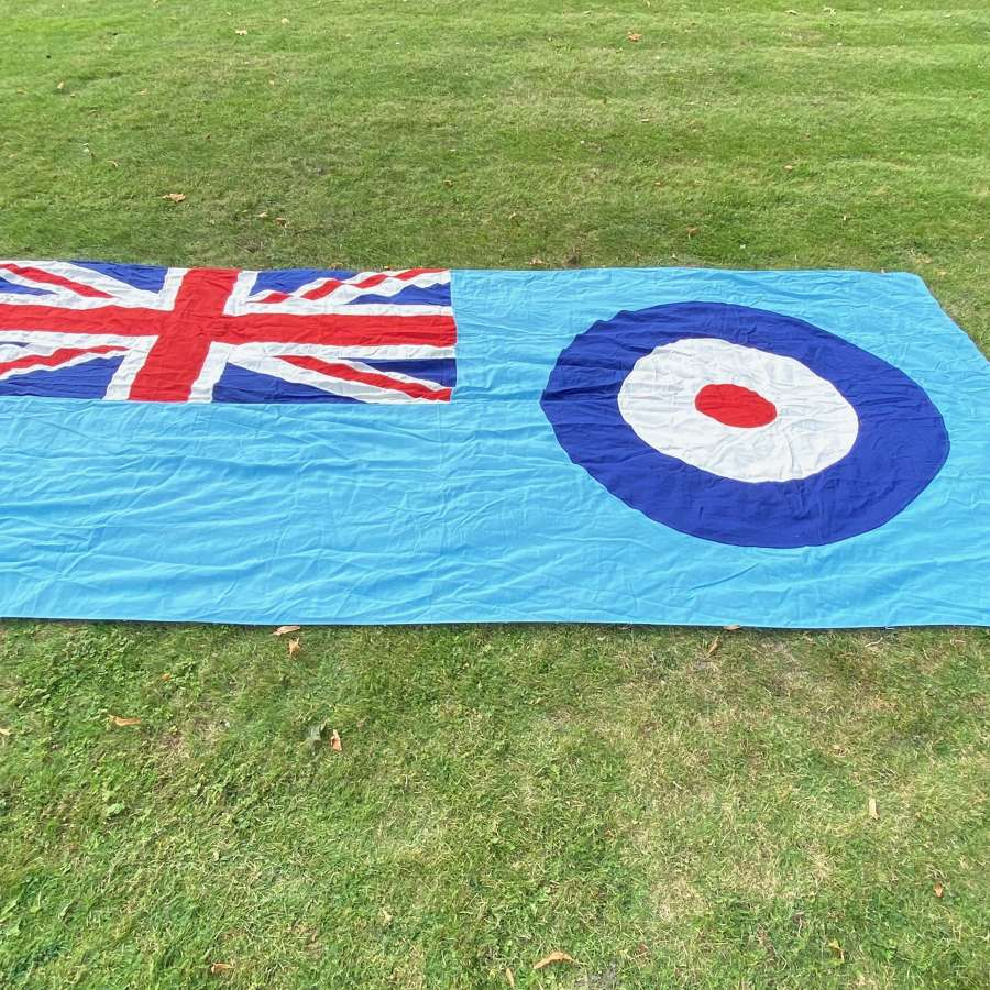 RAF Cold War Period Superb Original Large Station Ensign Flag