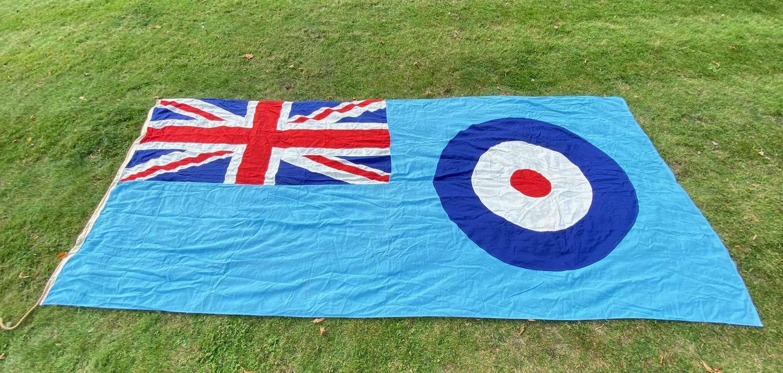 RAF Cold War Period Superb Original Large Station Ensign Flag