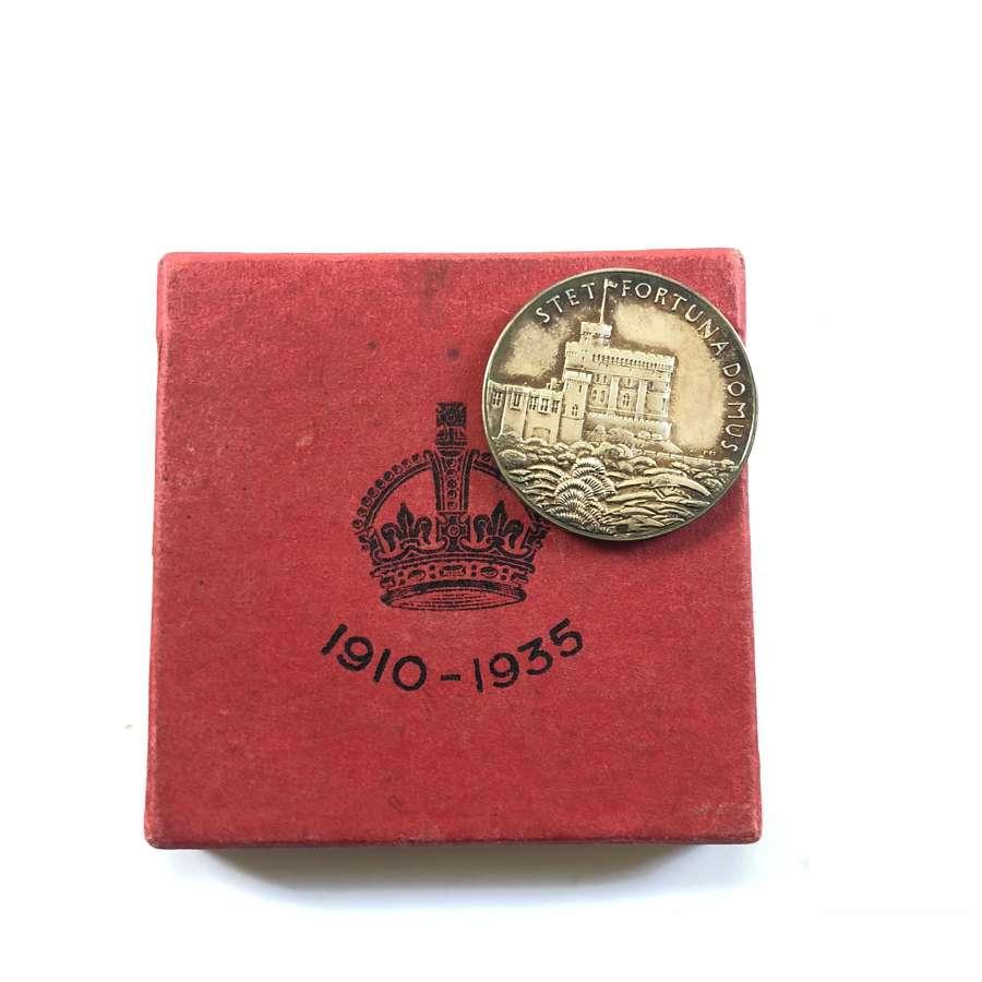 George V 1935 Jubilee Silver Medallion.