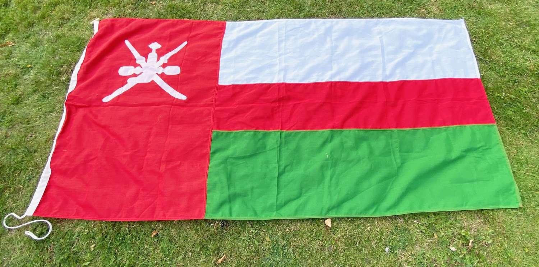 National Flag of Oman 1970-1995 Vintage Flag.