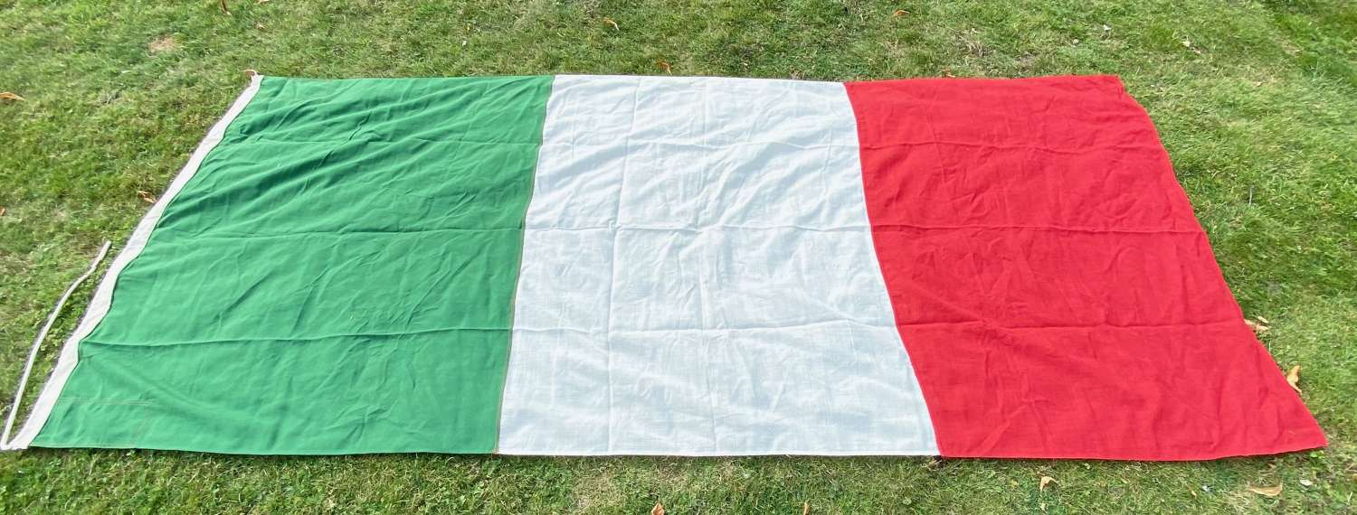 Cold War Period Italy National Flag.