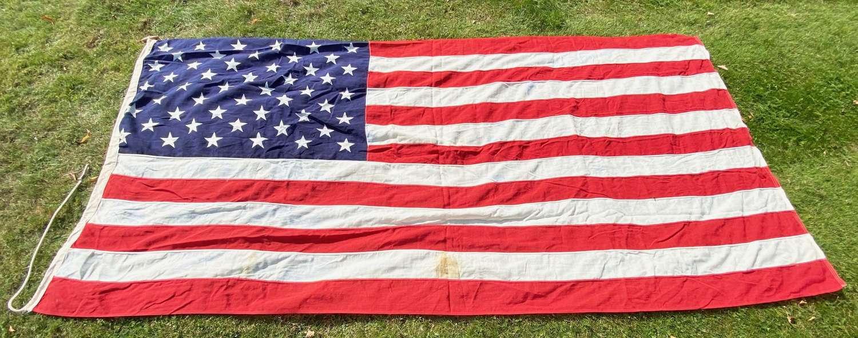 "Cold War Period USA ""Stars & Stripes"" Cotton Flag."