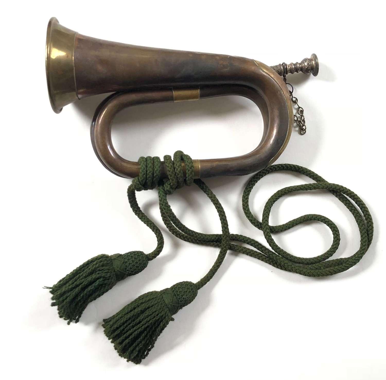 WW1 1917 British Army Bugle. Rifle Regiment Interest.