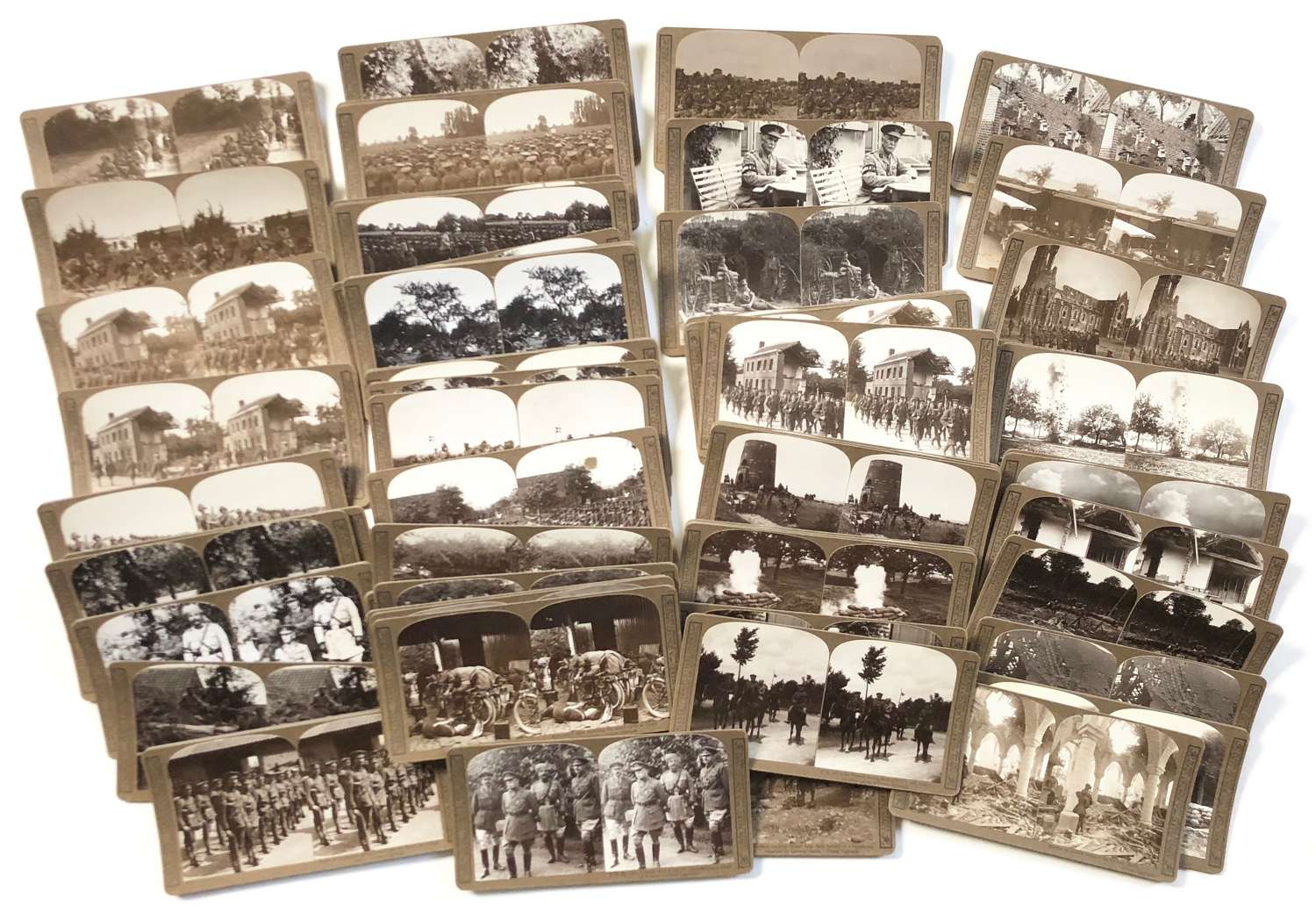 WW1 British Stereoscope Photograph Cards. London Regiment Interest