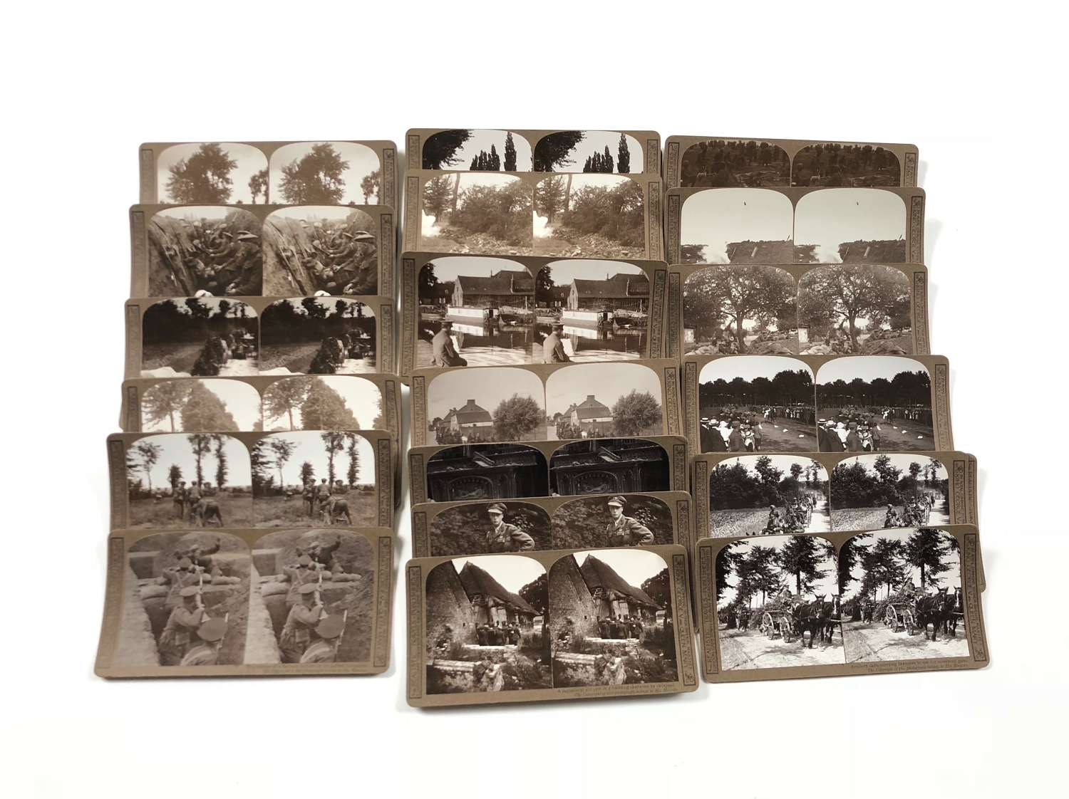 WW1 British Stereoscope Photograph Cards & Viewer