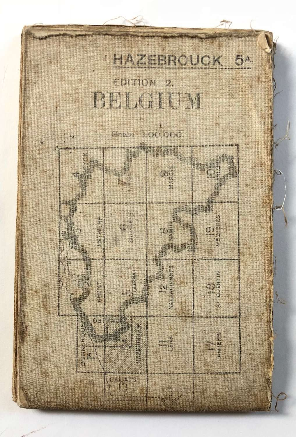 WW1 British Army 1916 Map. Belgium Hazebrouck 5A