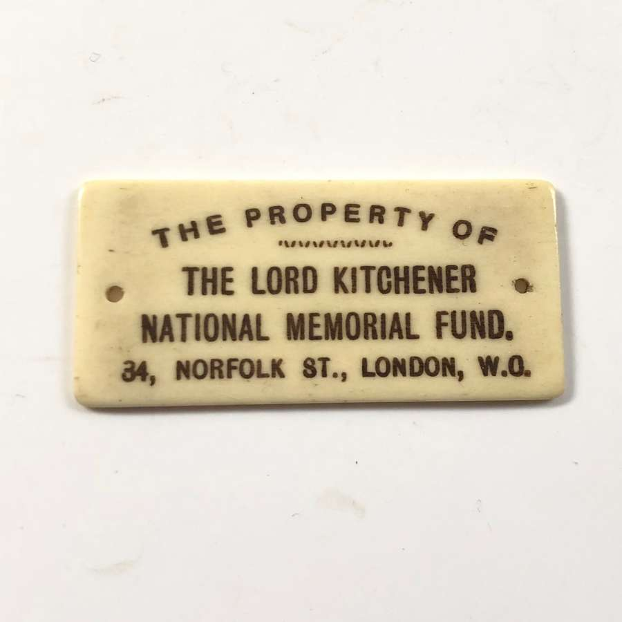 WW1 Interest Original Lord Kitchener Fund Plaque.