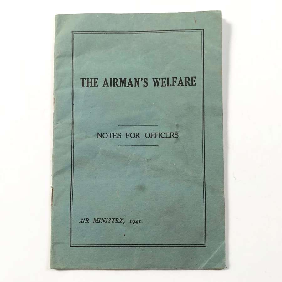 WW2 RAF 1941 Airman's Welfare Booklet