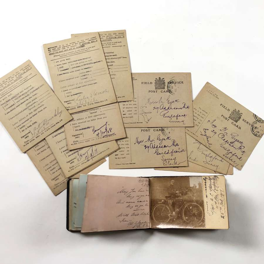 WW1 Autograph Book of Marjorie Gyatt of Guildford.