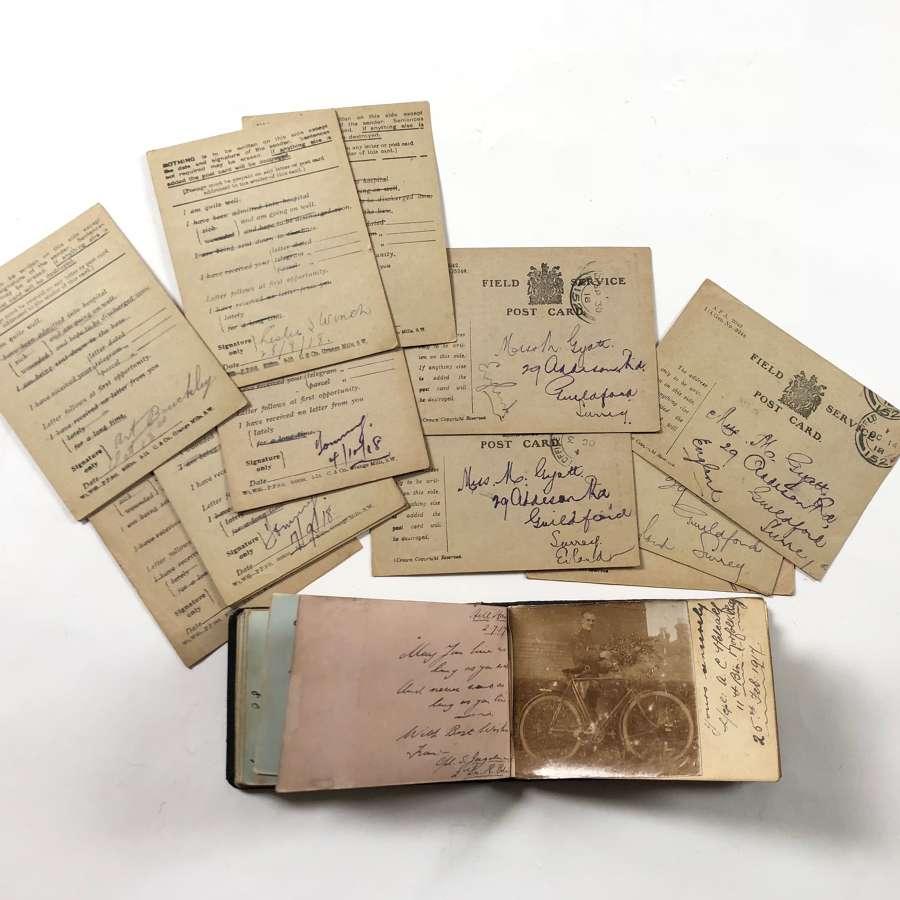 WW1 Autograph Book of Marjorie Gyatt of Guildford.