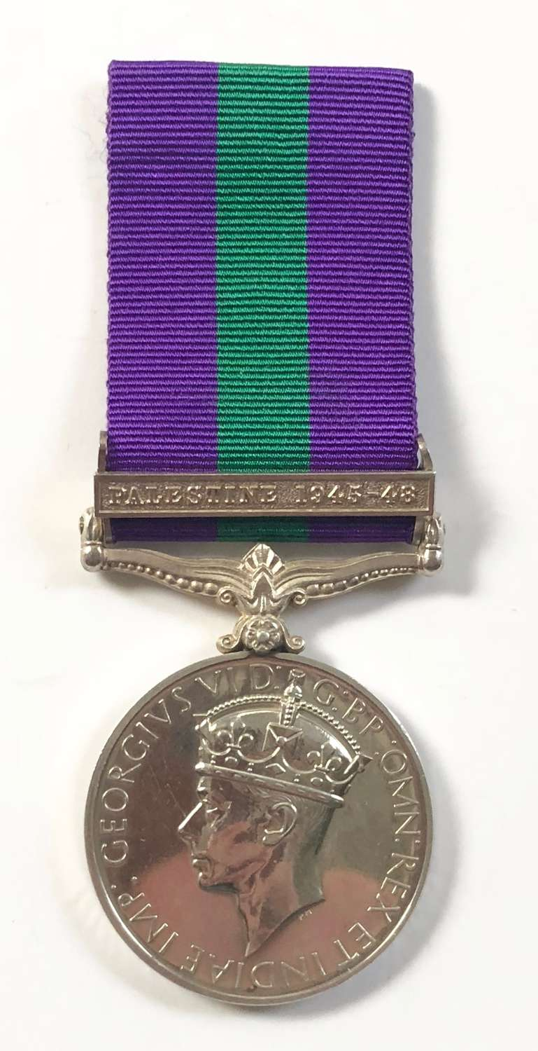 4th/7th Dragoon Guards General Service Medal Clasp Palestine 1945-48