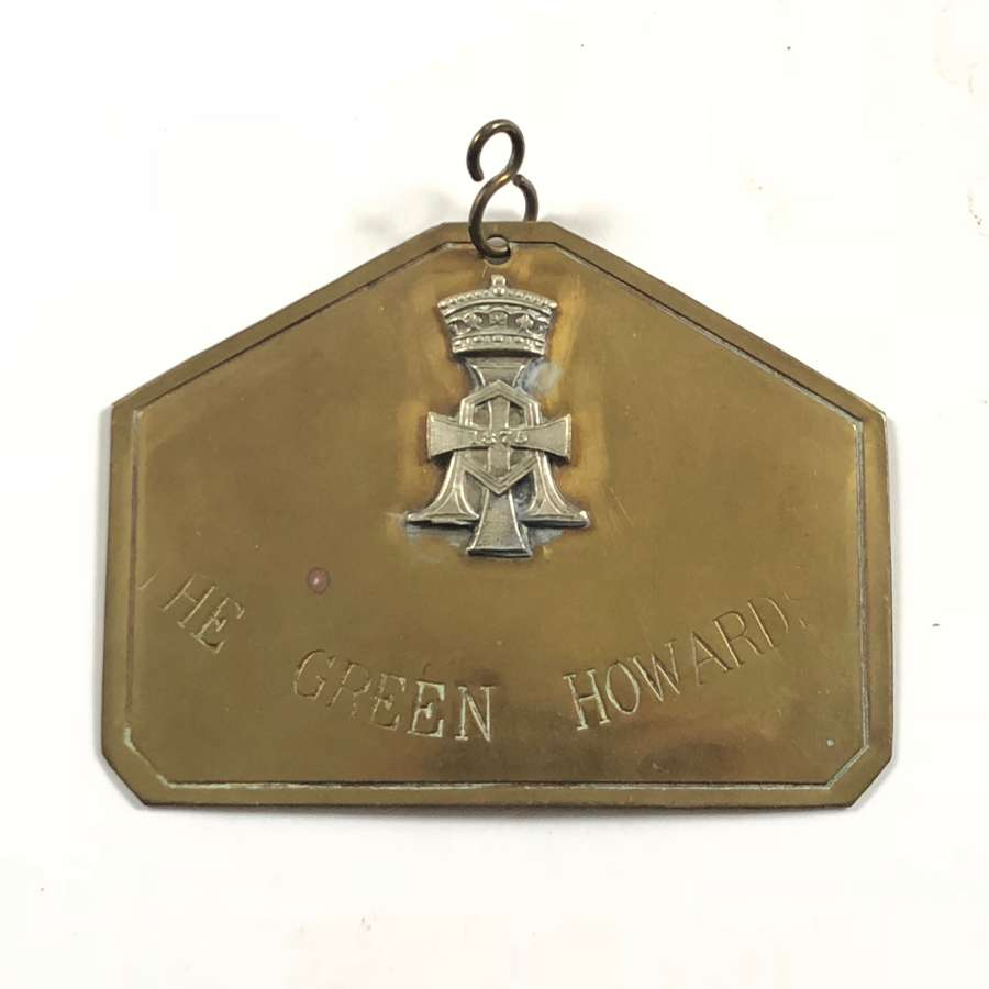 Green Howards The Yorkshire Regiment Other Rank's Duty Brass Plate.