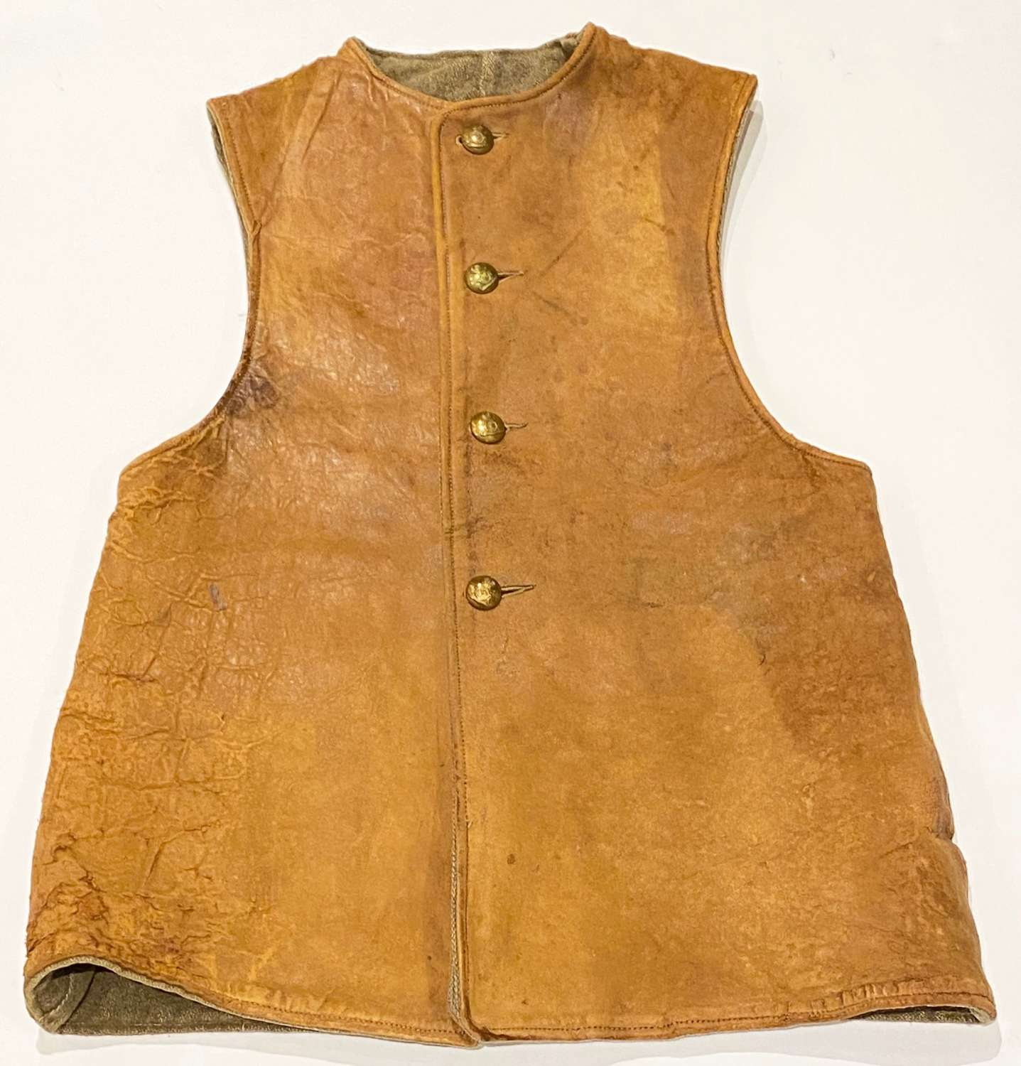 WW1 Period Leather Jerkin / Body Warmer.
