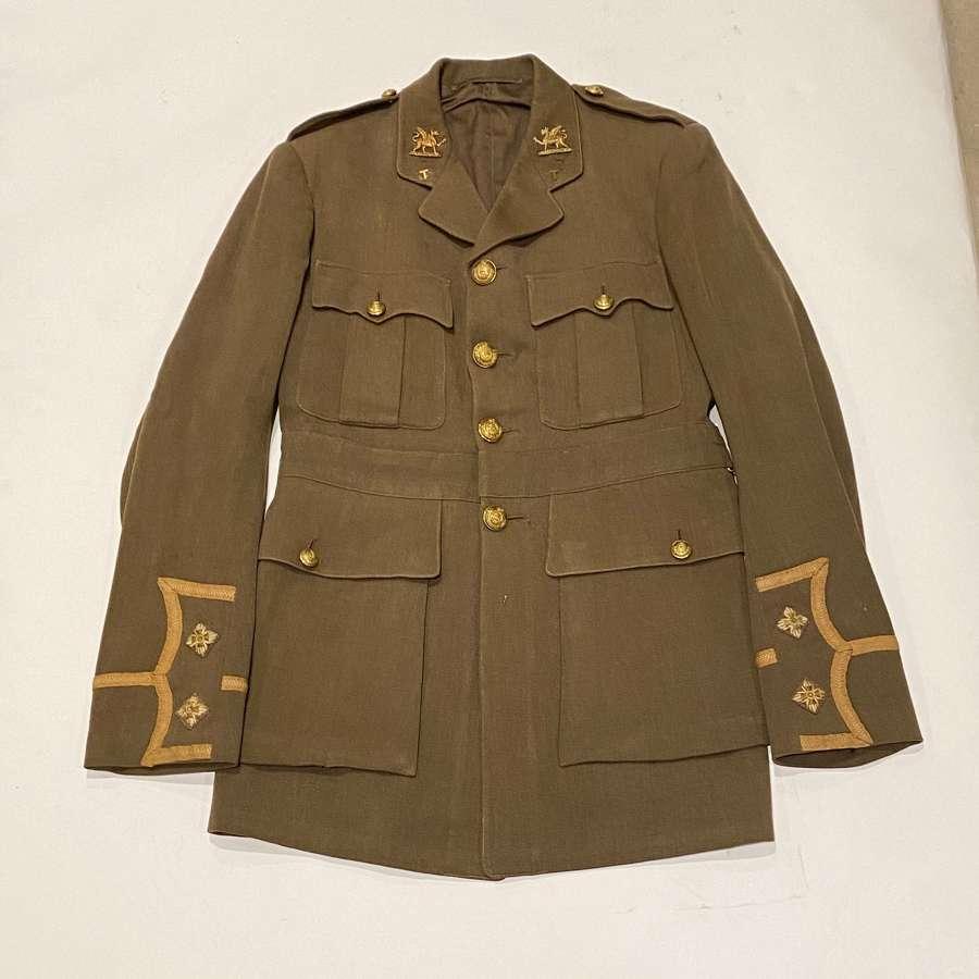 WW1 The Buffs (East Kent) Regiment Officer's Cuff Rank Tunic