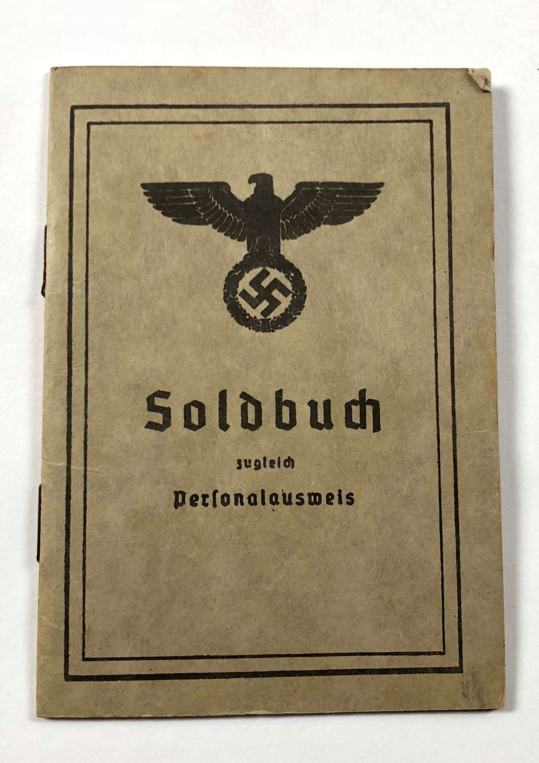 WW2 German Soldbuch Unussed
