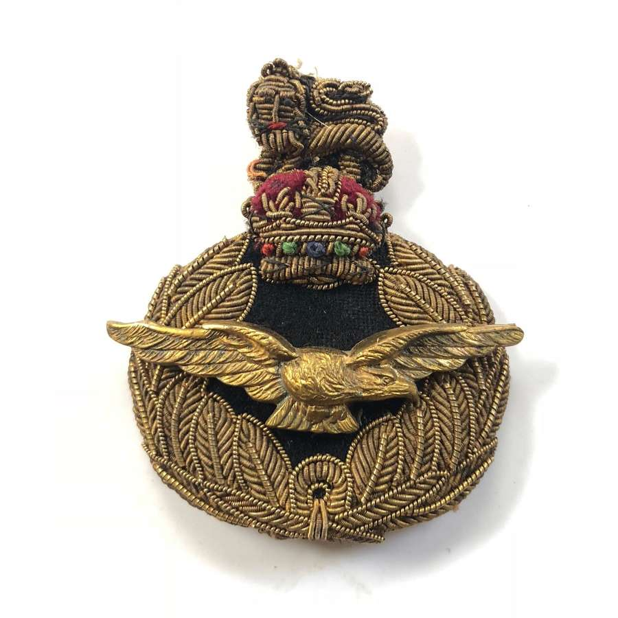 RAF WW2  Period Air Officer's Bullion Cap Badge