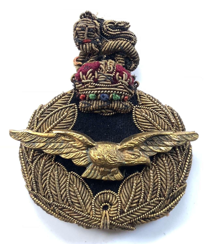RAF WW2  Period Air Officer's Bullion Cap Badge