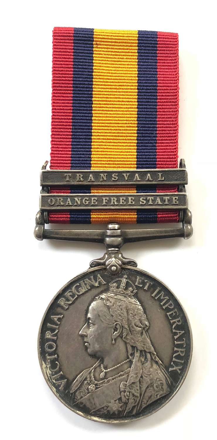Boer War 13th Hussars POW Queen's South Africa Medal.