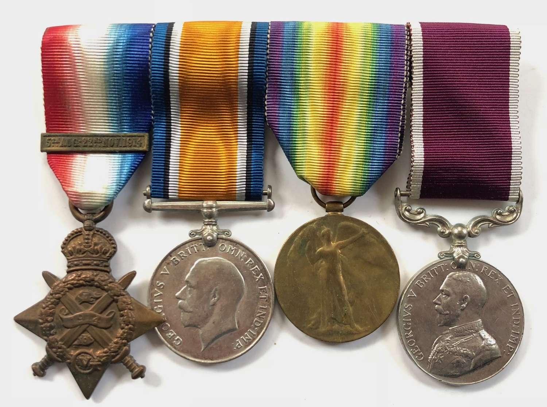 WW1 2nd Bn South Lancashire Regiment / Scots Guards POW Group of Four