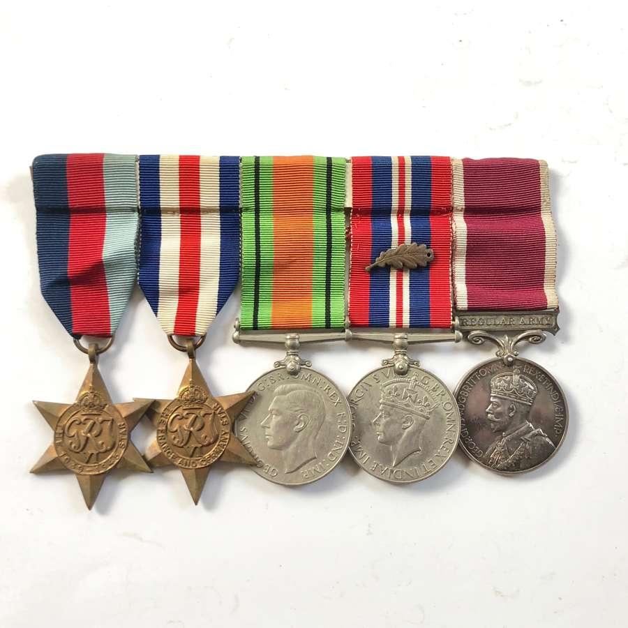 WW2 RAOC /REME Officer's Long Service Medal Group