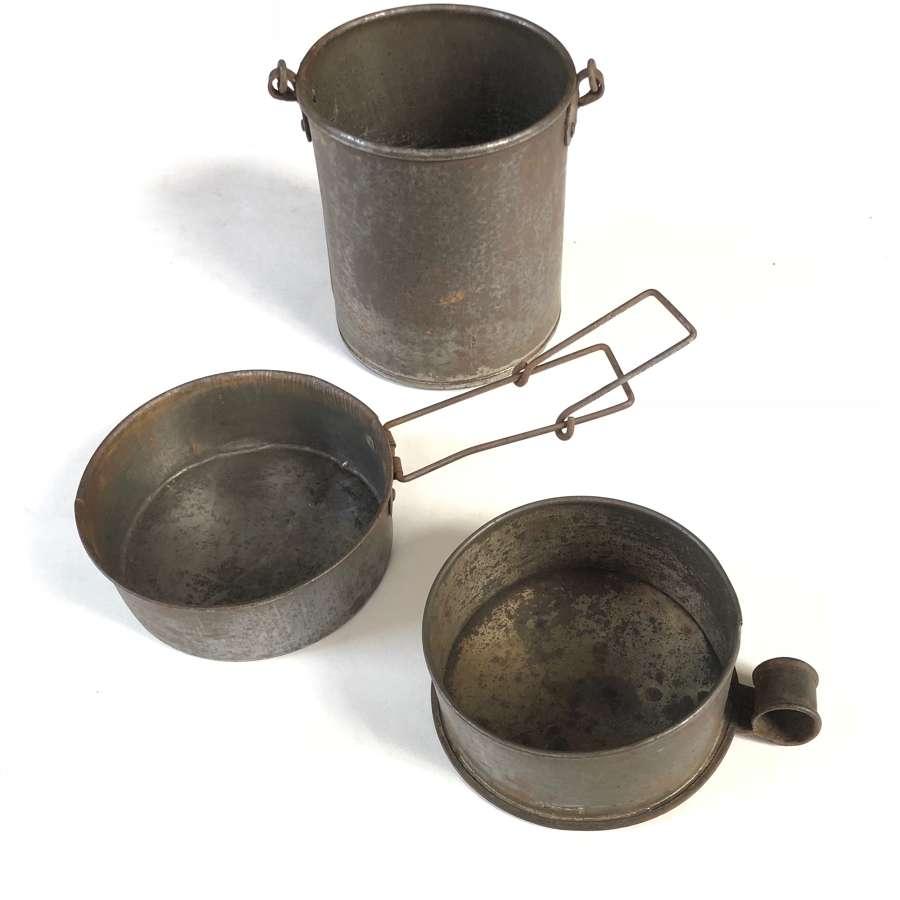 Boer War / WW1 Private Purchase Mess Tins.