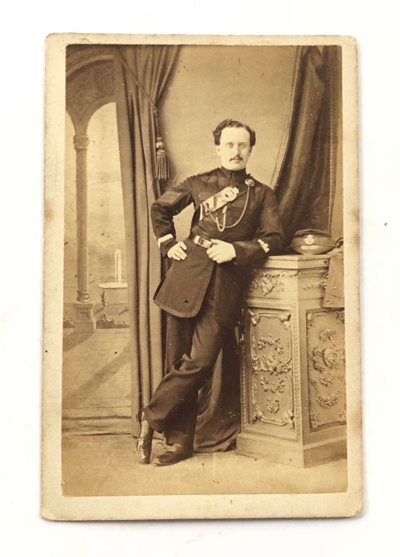Victorian Sussex Rifle Volunteers carte de visite. Photograph