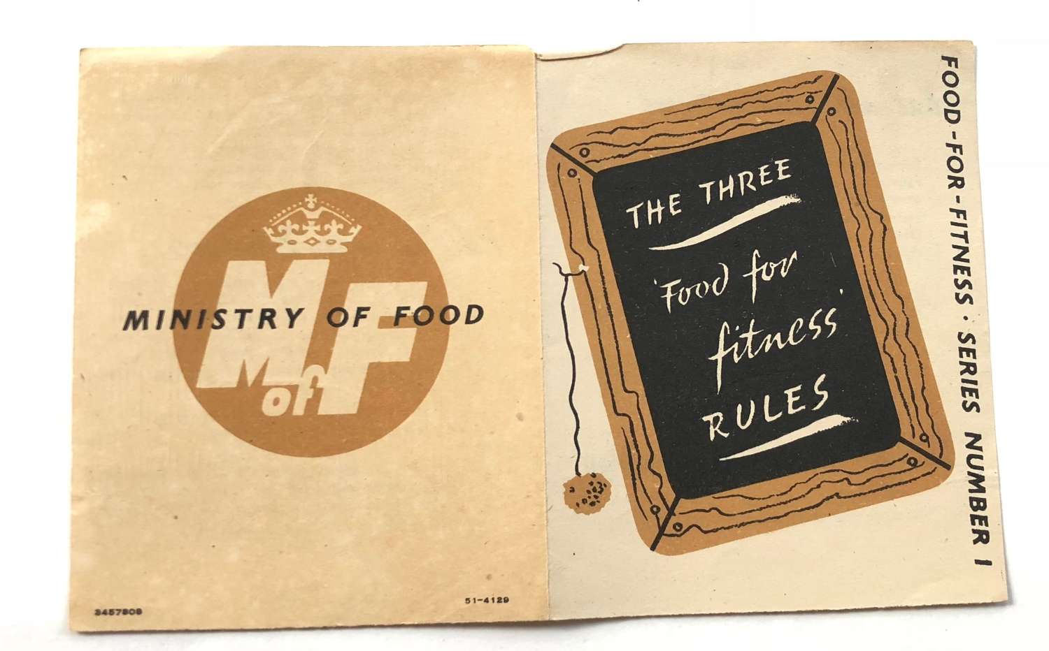 "WW2 Period Home Front Ministry of Food ""Food For Fitness"" Leaflet."
