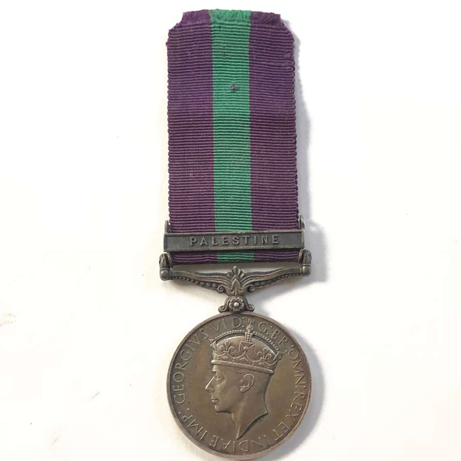 """King's Own General Service Medal, clasp """"Palestine"""""""