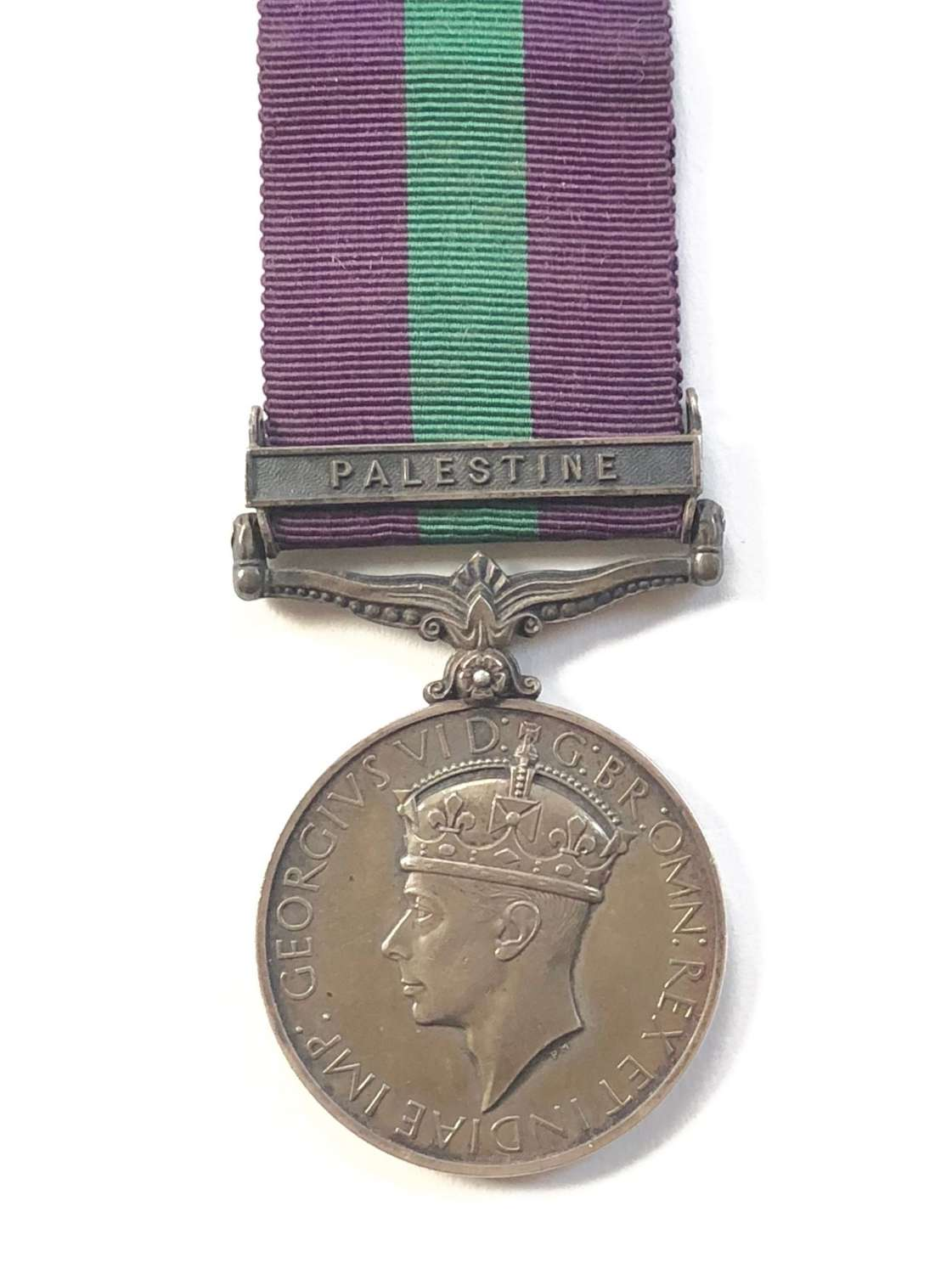 "King's Own General Service Medal, clasp ""Palestine"""