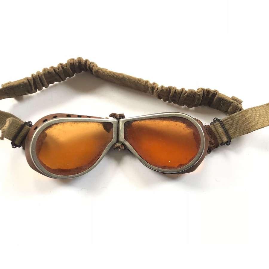 WW2 British Army MT / DR Dispatch Riders Goggles.